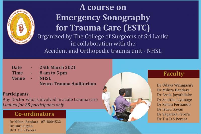 Emergency Sonography for Trauma Care - March